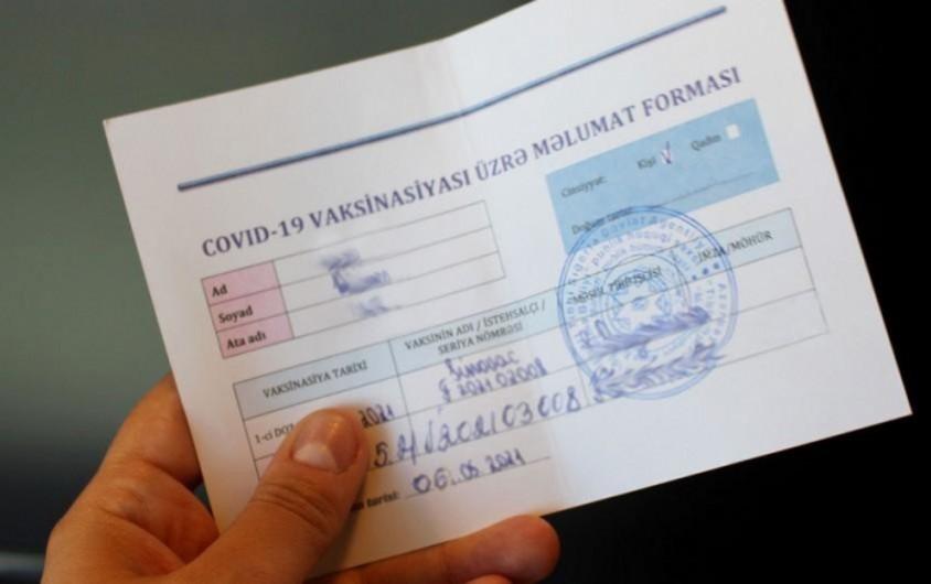 Şamaxıda qanunsuz COVID-19 pasportu satan şəxslərə cinayət işi açıldı